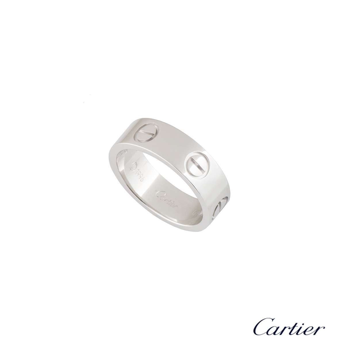 Cartier White Gold Plain Love Ring